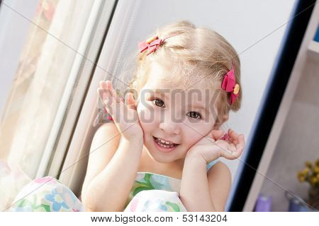 Cute Little Girl Playing