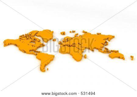 World Map Flat2