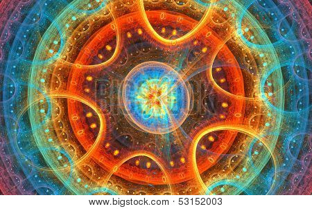 Micro space: fractal background