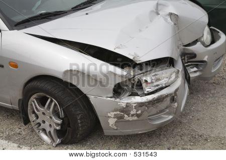 Se estrelló coche