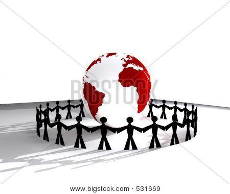 Menschen rund um Globus