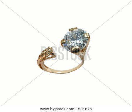 Gold Ring mit Diamant