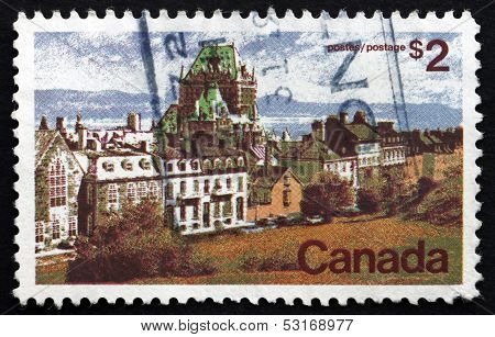 Postage Stamp Canada 1972 Quebec, Chateau Frontenac