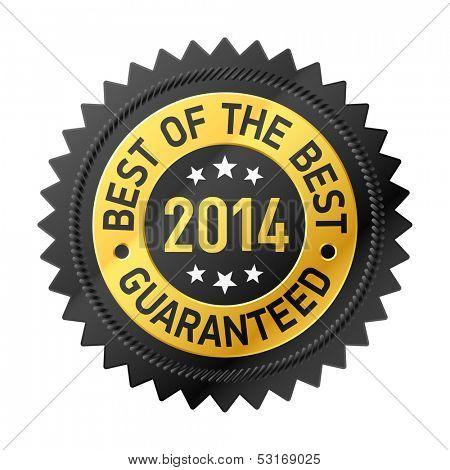 Best of the Best 2014 label. Vector.
