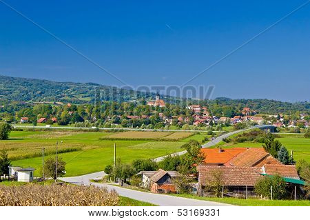 Village Of Komin Green Landscape