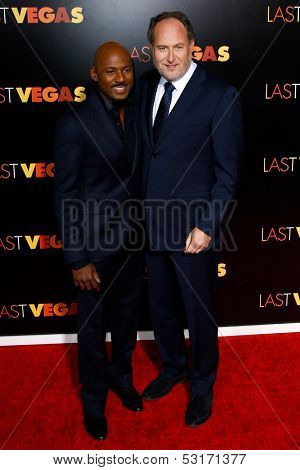 NEW YORK- OCT 29: Actor Romany Malco and director Jon Turteltaub attend the premiere of 'Last Vegas' at the Ziegfeld Theatre on October 29, 2013 in New York City.