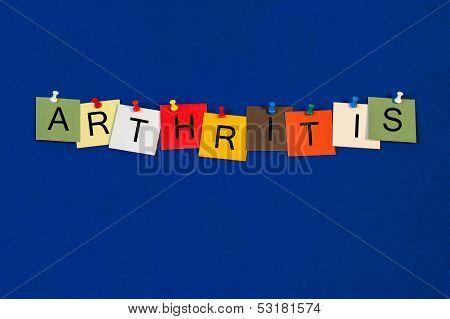 Arthritis - Sign Series for Health Care