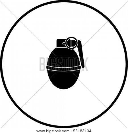 round hand grenade explosive symbol