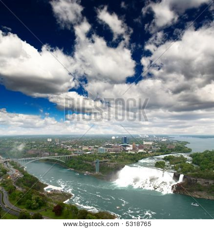 An Aerial View Of The Niagara Falls