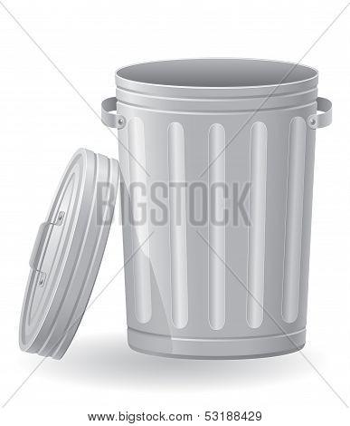 Trash Can Vector Illustration