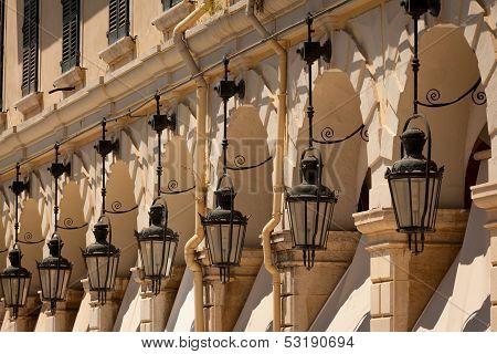 Liston Old Corfu Town Facades, Greece