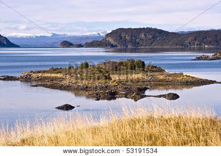 Lapataia Bay In Tierra Del Fuego