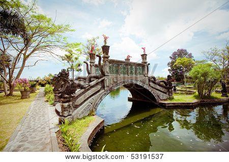 Tirtagangga Water Palace On Bali Island, Indonesia