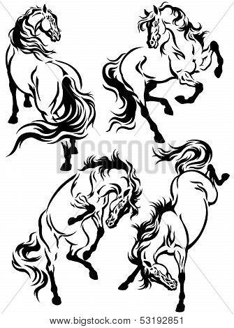 Set Of Horse Tattoo