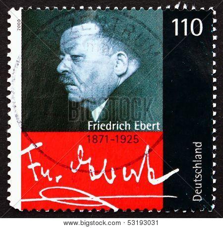 Postage Stamp Germany 2000 Friedrich Ebert, President Of Germany
