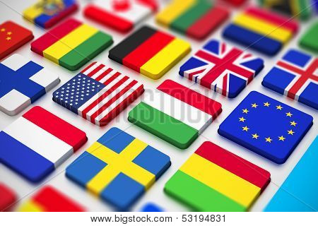 Flags keyboard