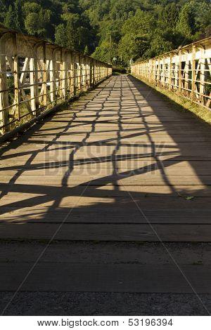 Footbridge Once A Railway Bridge - The Wire Bridge At Tintern.