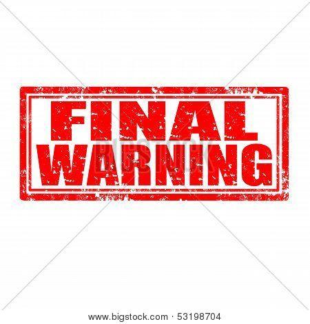 Final Warning-stamp