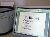 To Do List On A Computer Monitor