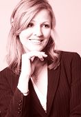 Smiling Business Woman With Rose Tint
