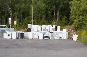 picture of discard  - A waste disposal facility with discarded fridges - JPG