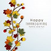 pic of indian apple  - Happy Thanksgiving Day concept with beautiful autumn leaves - JPG