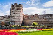 image of constantinople  - A tower within the old walls of Constantinople - JPG
