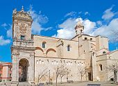stock photo of saint-nicolas  - duomo of Sassari under a blue sky - JPG