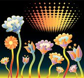 picture of psychodelic  - vector illustration of the psychodelic background from sixties - JPG
