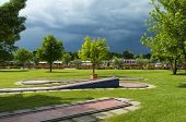 picture of miniature golf  - mini golf park on a camping site in Italy - JPG