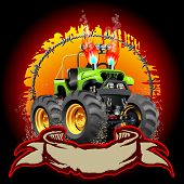 image of monster-truck  - Cartoon Monster Truck - JPG
