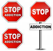 foto of crack addiction  - Vector stop addiction sign on white background - JPG