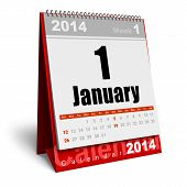 stock photo of calendar 2014  - Creative abstract New Year 2014 beginning celebration business concept - JPG