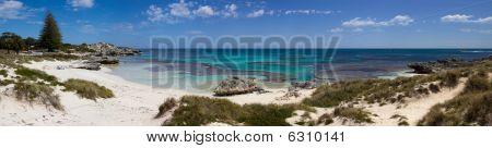 Panorma Of Basin Beach, Rottnest Island