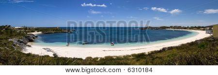 Panorama Of A Circular Bay And Beach