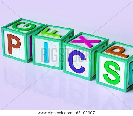 Pics Blocks Show Taking Uploading And Sharing Photos