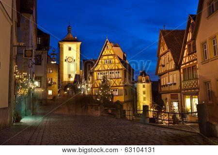 Rothenburg Ob Der Tauber By Night