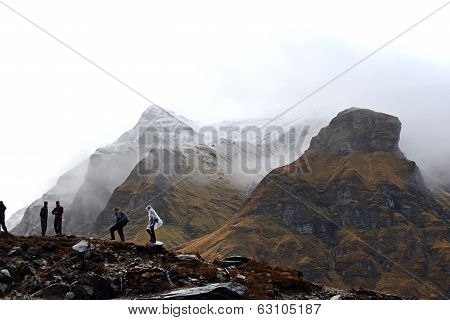 Cloudy Day In The Annapurna Base Camp, Nepal