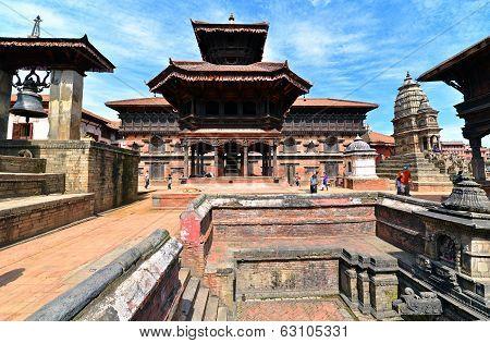Hindu Temple In Bhaktapur, Nepal