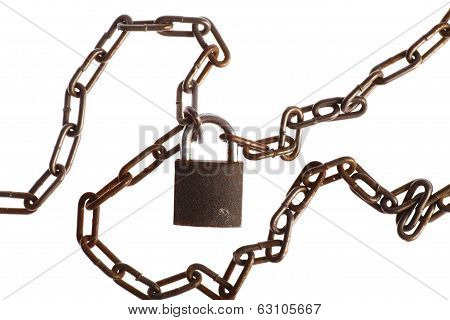 Rusty Chains And Lock