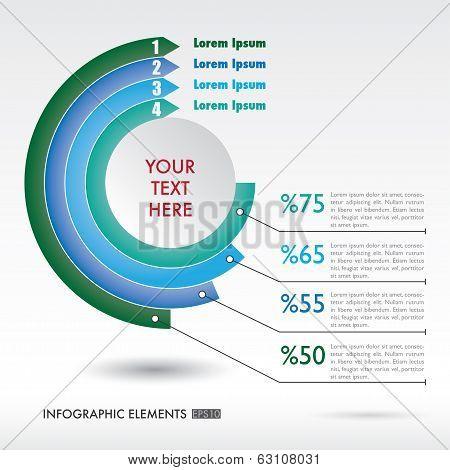 Modern Infographics Circle Style.