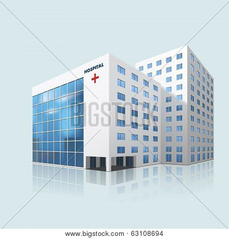 City Hospital Building With Reflection