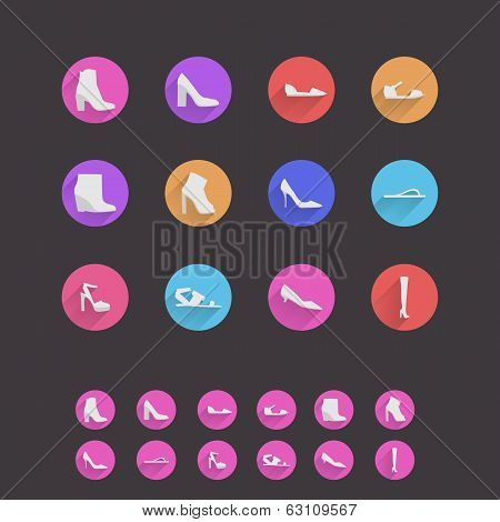 Icons for womens shoes