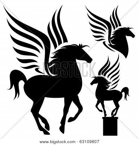 Prancing Pegasus Silhouette