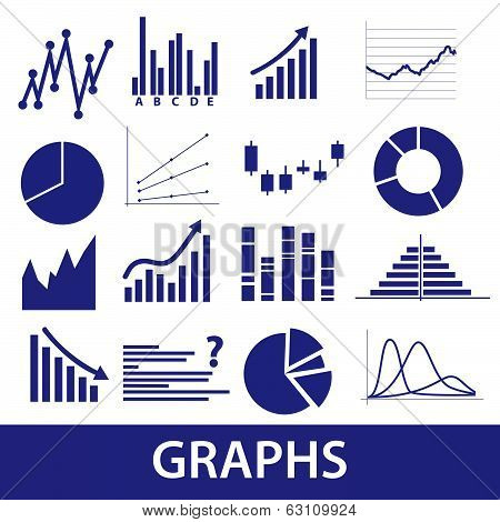 graphs icons eps10