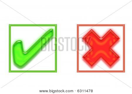 Stock photo : Tick And Cross