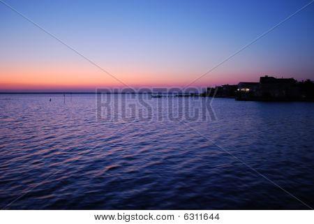 Dusk at the bay