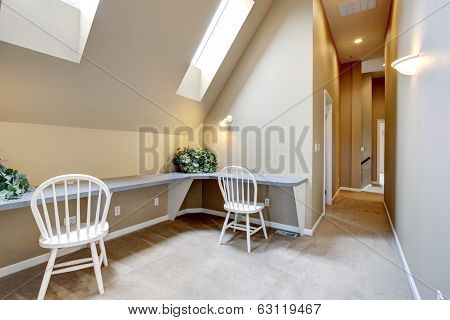 Upstairs Interior With Velux Windows