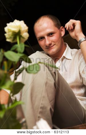 Big Guy And White Rose