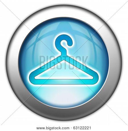 Icon Button Pictogram Coat Hanger